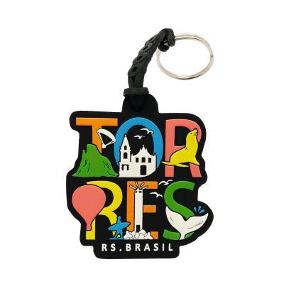 Chaveiro de borracha personalizado Brasil