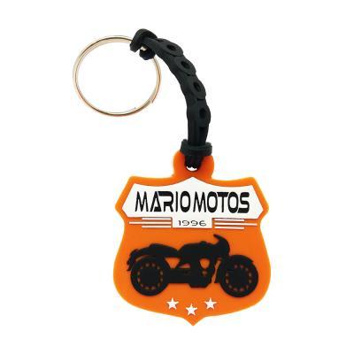 Chaveiro de borracha personalizado Mario motos