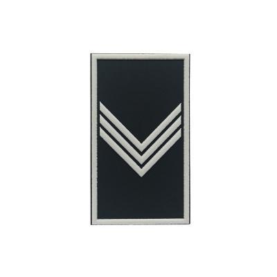 Etiqueta borracha militar patente 222