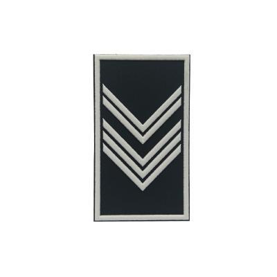 Etiqueta borracha militar patente 444