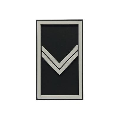 Etiqueta militar emborrachada patente