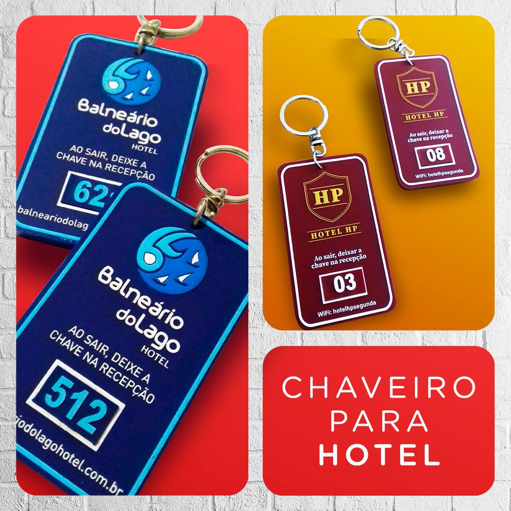 Chaveiro de hotel personalizado com sua marca